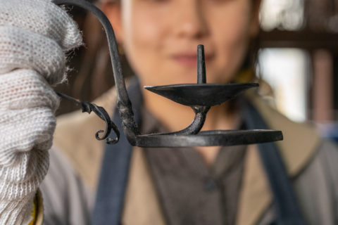 Candlestick workshop at a blacksmith