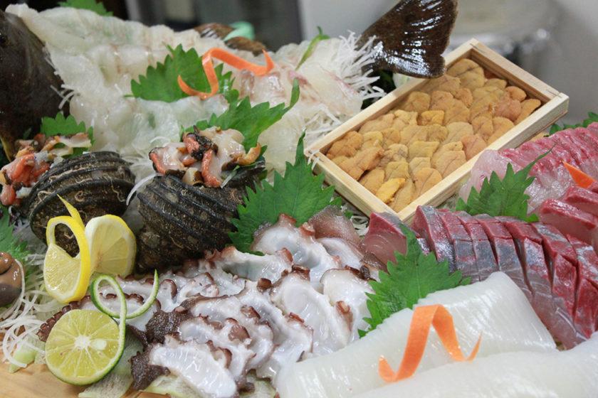 Delicious cuisine of fresh fish