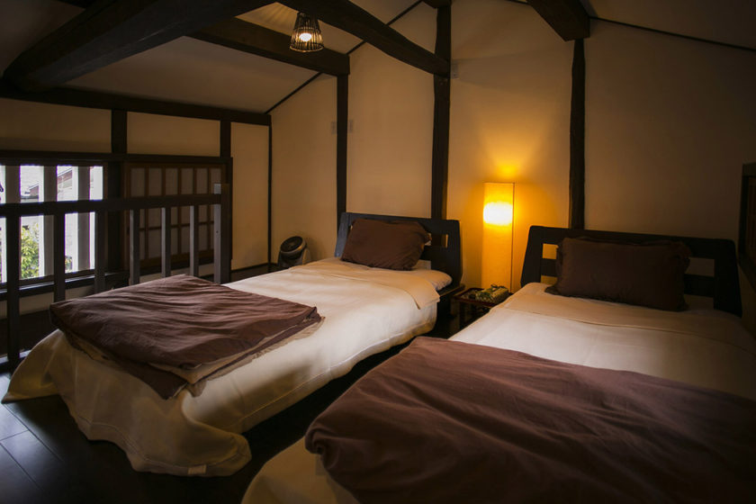 Western style bedroom on the second floor with 2 single beds each