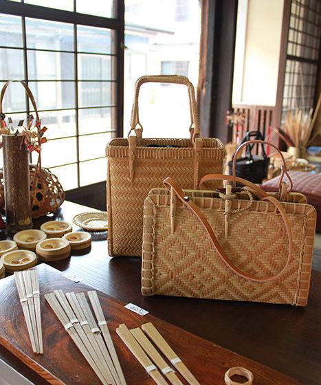 Braided bamboo bags