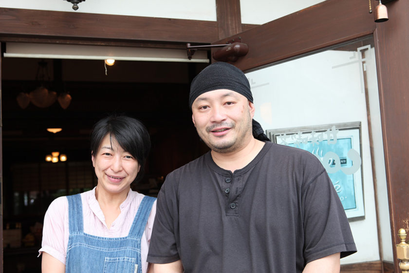 The hotel owners Mr. and Mrs. Onishi