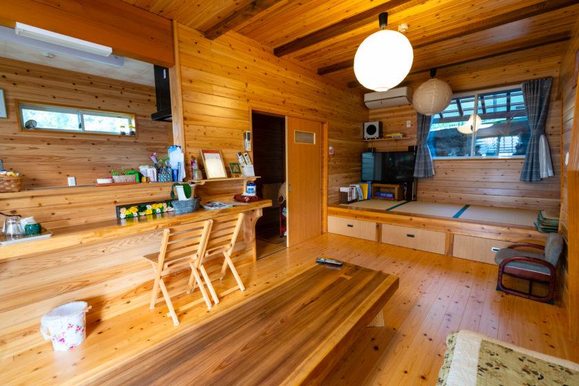 Woody living room