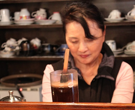 Taste the rich aroma of syphon brewed coffee